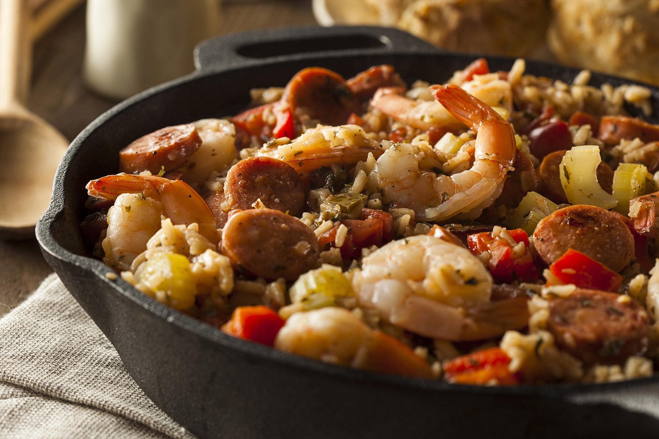 Spicy Homemade Cajun Jambalaya