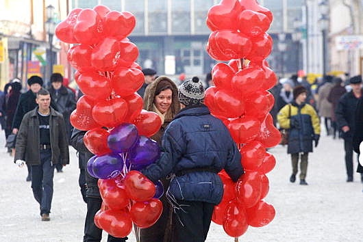 Valentines Day Observed in Eastern Siberia