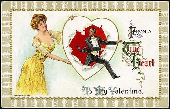 Valentine Postcard By H. Wessler